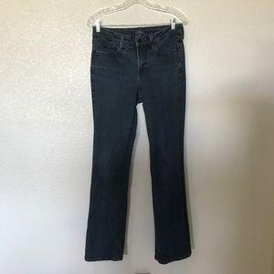 NYDJ bootcut; size 8; darker wash